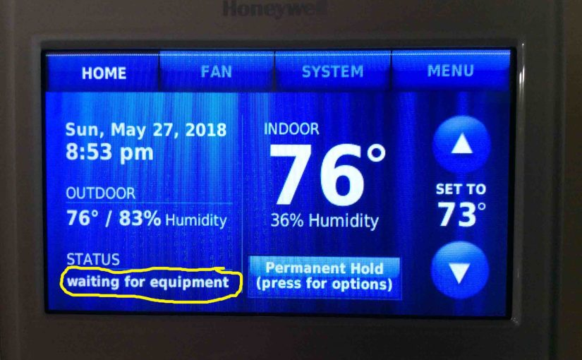 Honeywell Thermostat Waiting for Equipment Message
