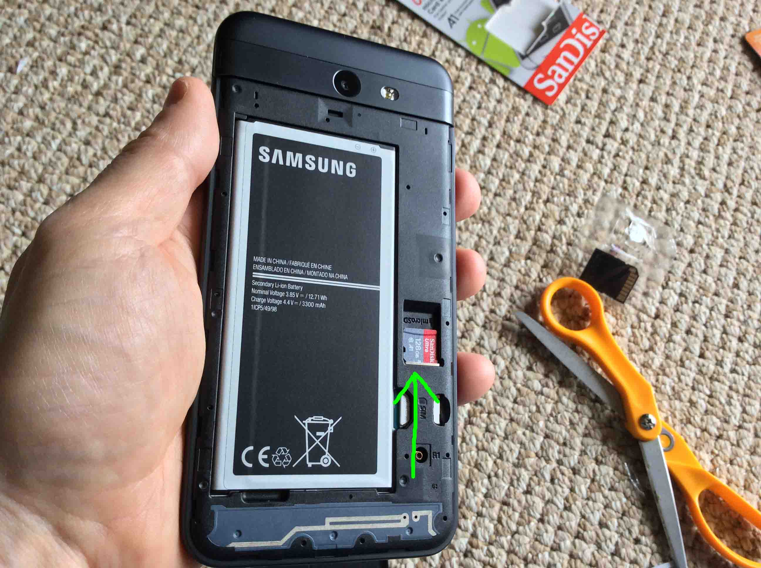 How to Install SD Card in Samsung Galaxy J7 Phone | Tom's Tek Stop