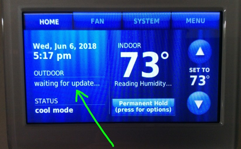 Honeywell Waiting for Update RTH9580WF Thermostat Message, What it Means
