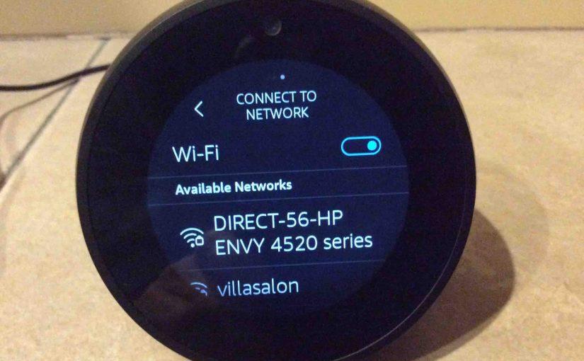 Echo Spot Change WiFi Instructions, Amazon Alexa