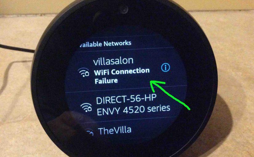Echo Spot WiFi Setup Instructions
