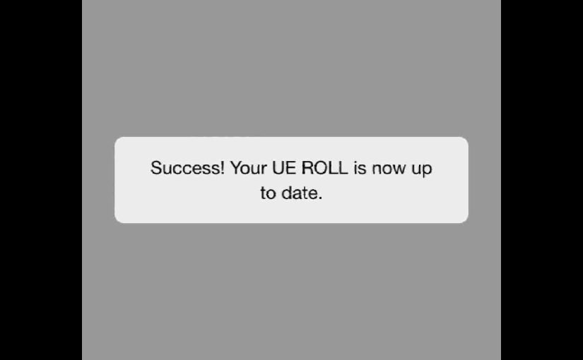 Updating Firmware on UE Roll Speaker, How To