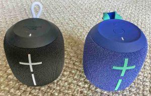 Picture of the Wonderboom 1 and Wonderboom 2 Speakers Side By Side.