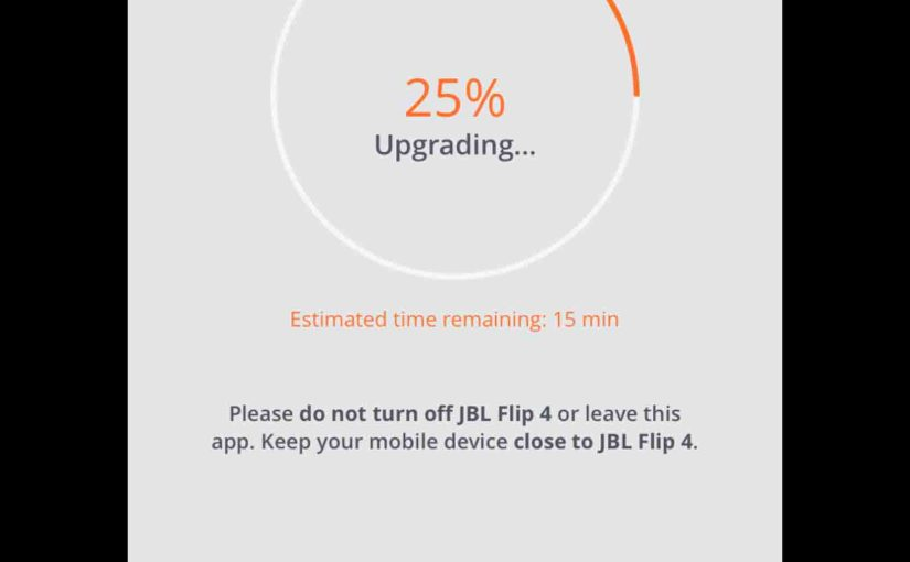 JBL Flip 5 Update Firmware Instructions