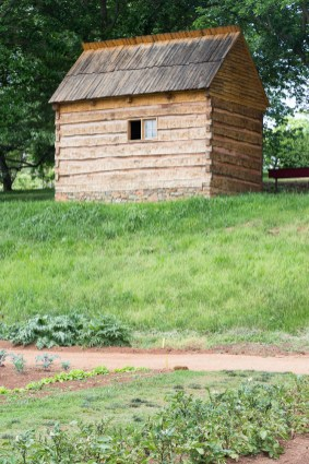 Reconstructed slave cabin