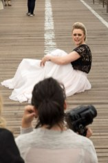 Fashion shoot on the Bridge