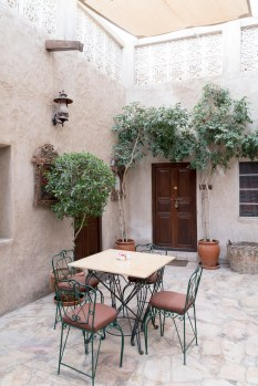 Orient Cafe courtyard