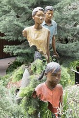 Truly weird sculptures - most of their bodies are missing....
