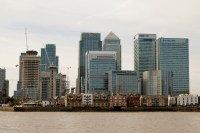 Canary Wharf from the Greenwich peninsula