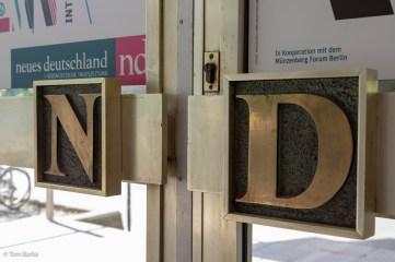 Neues Deutschland design close-up
