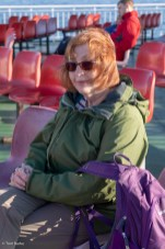 Val on the Brodick ferry