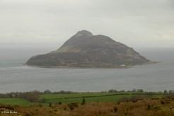Holy Isle through the murk