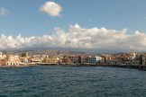 Chania Harbour from the breakwater (wide-angle)