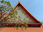 External decorated architecture (this might have been the outside of the Buddhaisawan chapel)