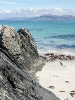Rocks and sand at Iona