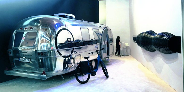 Airstream Mobile Lounge Messestand