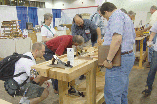 If you bring a bench, woodworkers will inspect it!