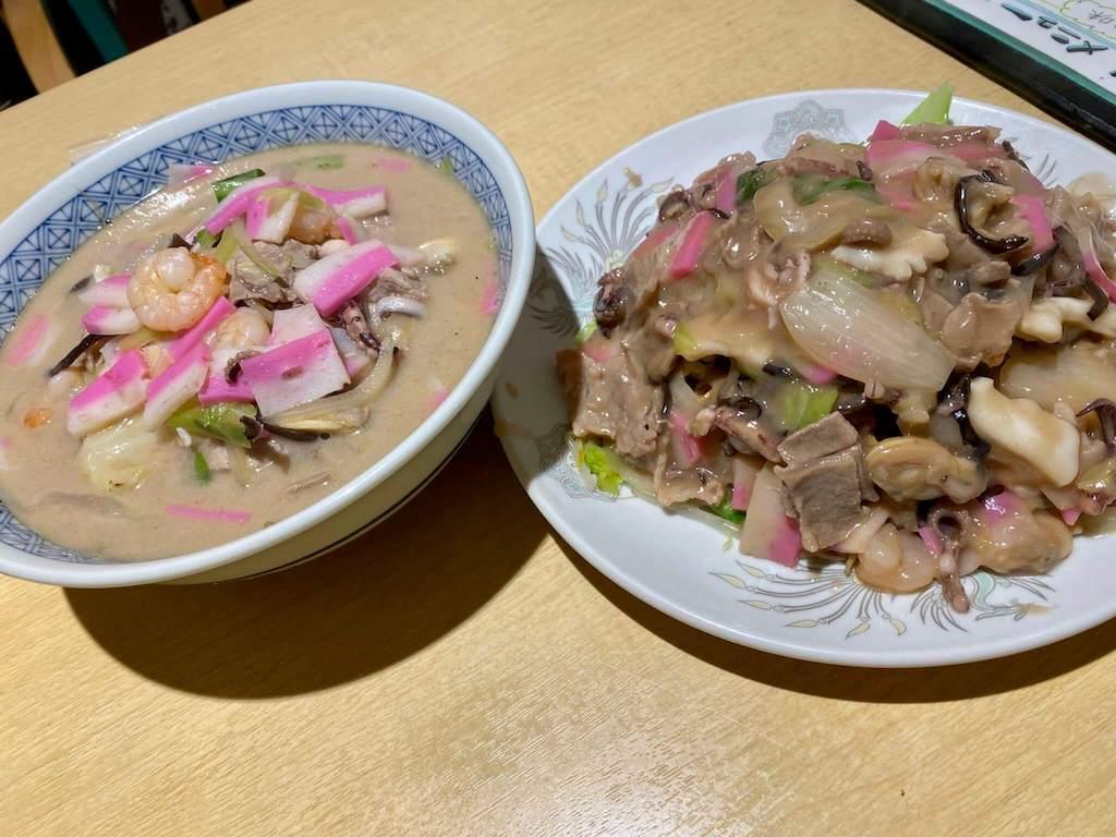 楊家菜房 翠獅庭の長崎ちゃんぽんと皿うどん