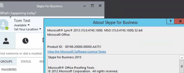cannot install skype for business with office 365
