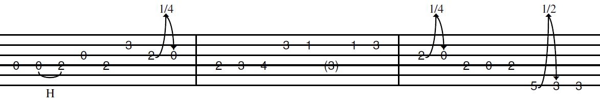country intro lick in G