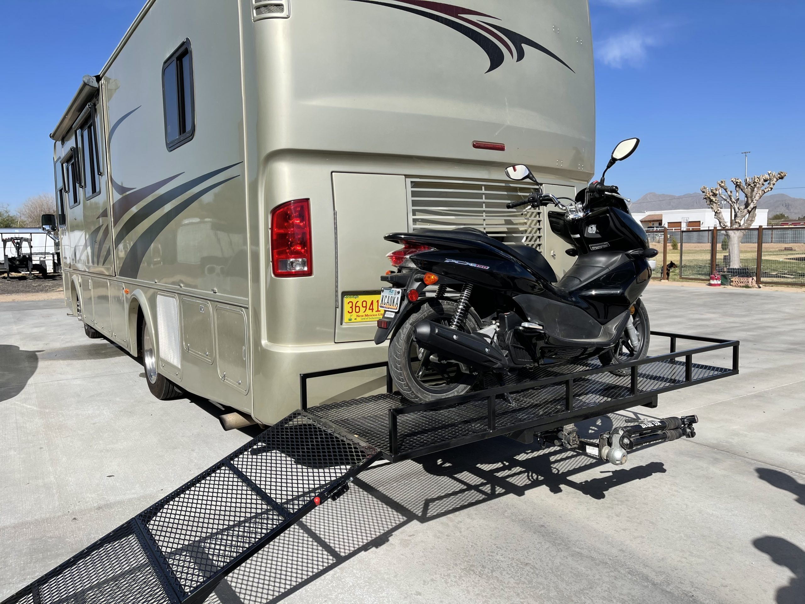 Motorcycle Scooter Rack for Class A RV Motorhome
