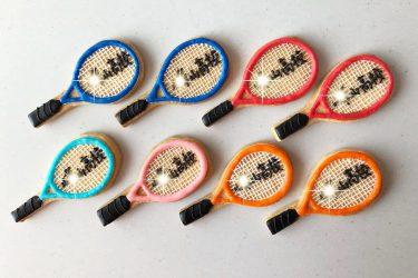 テニスラケットアイシングクッキー