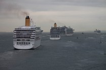 Four ships in front of us