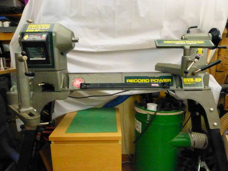 Image of actual lathe. Draws and shopvac not included!