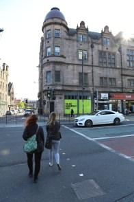 Walking to Central, Edinburgh.