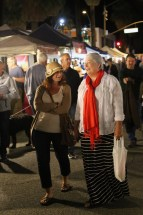 Strolling the Thursday evening market.