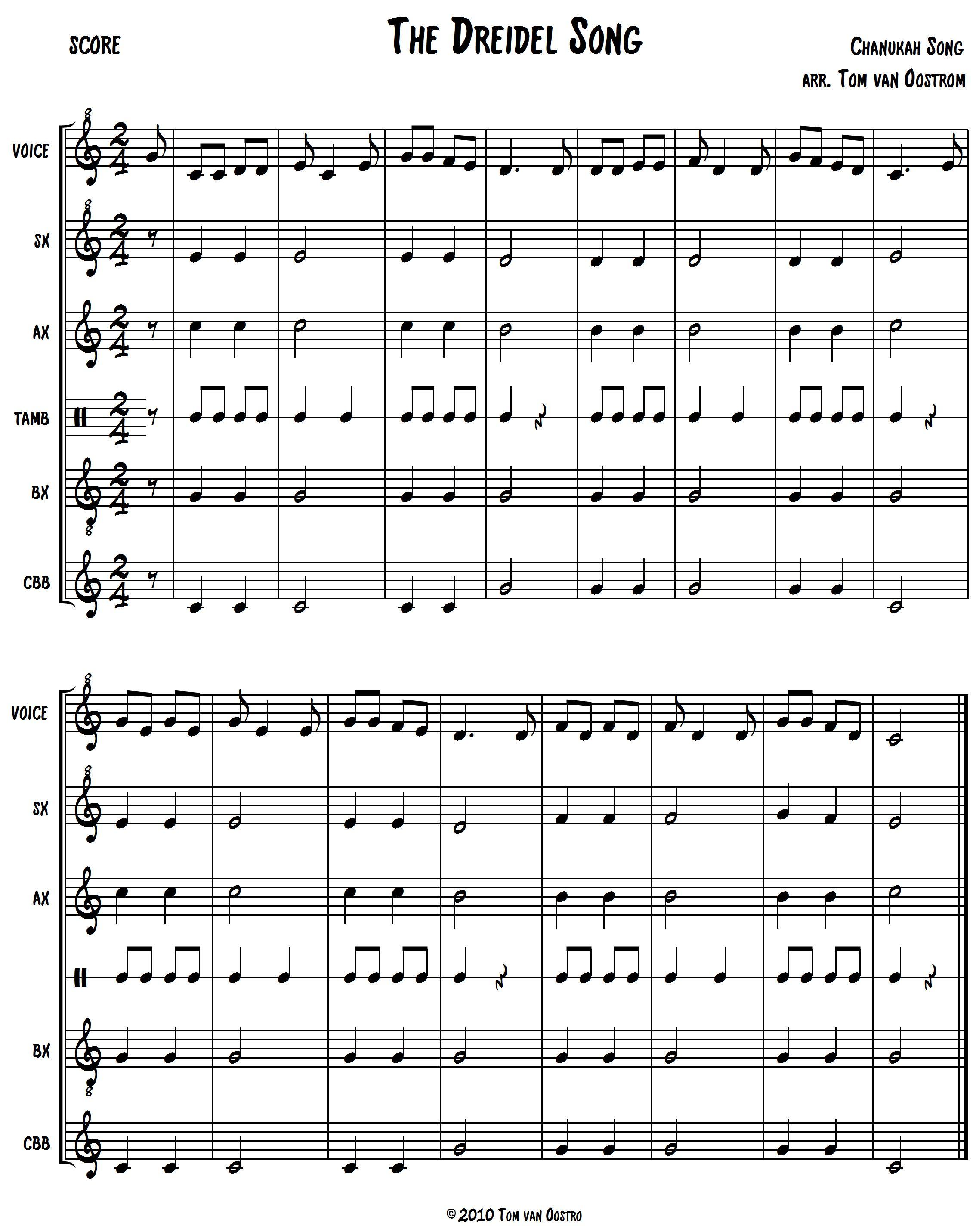 The Dreidel Song Orff Arrangement