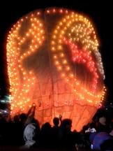 Een van de eerste ballonnen die op werd gelaten