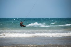 A Kitesurfer in Diani, Kenya