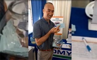 TOMY Centrifuge Raffle Winner at NIH Spring Vendor Show 5/23-24, 2018