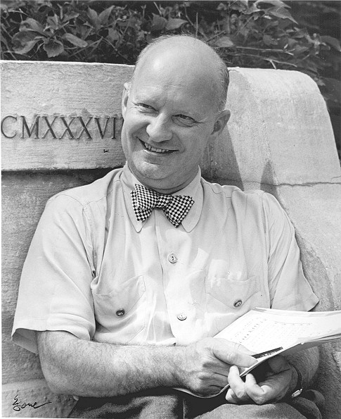 A photograph of composer Paul Hindemith, 1945