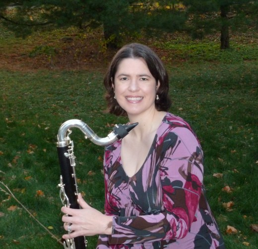 Lori and her bass clarinet