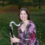 Lori and her bass clarinet
