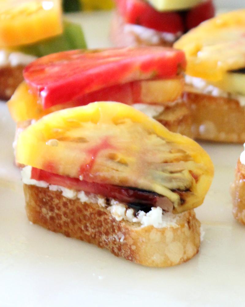 Heirloom Tomato & Goat Cheese Crostini