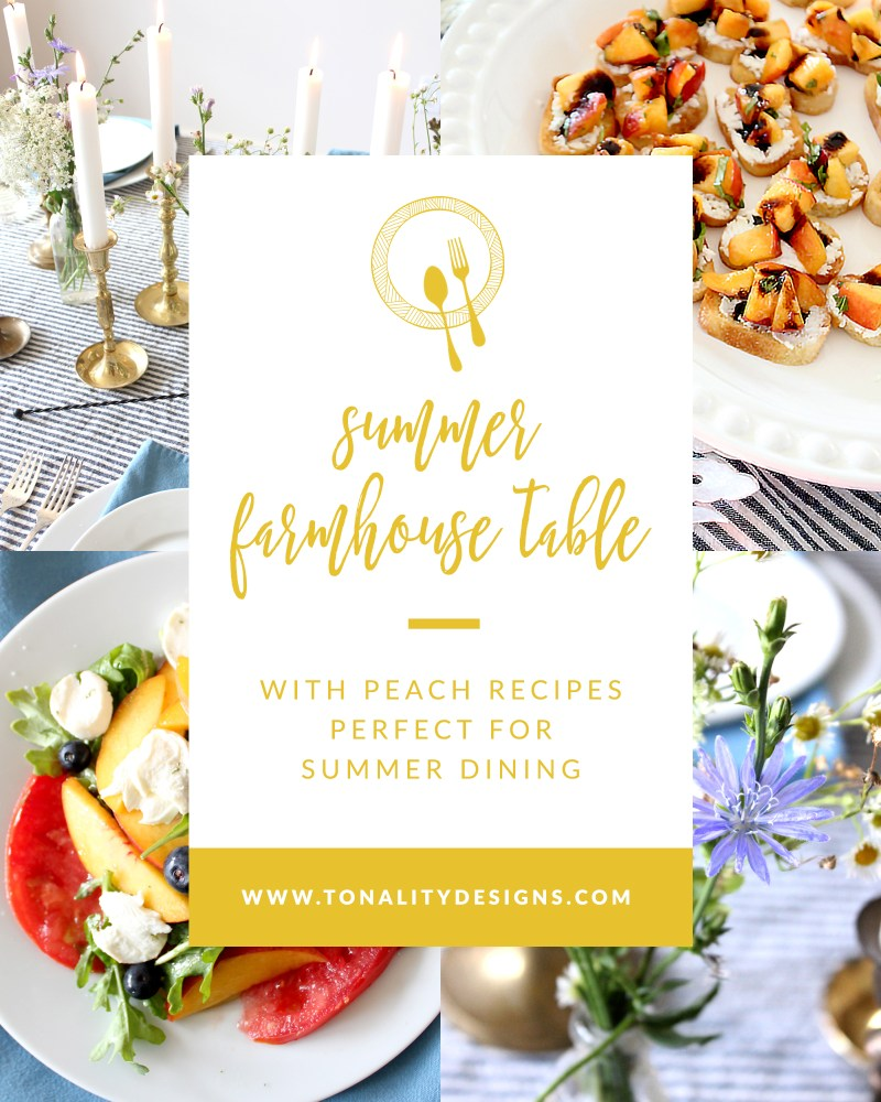 Summer Farmhouse Table with Peach Recipes Perfect for Summer Dining
