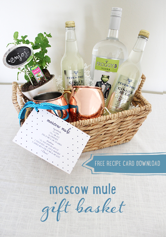 picture relating to Moscow Mule Recipe Printable known as Moscow Mule Present Basket - Totally free Recipe Card Down load