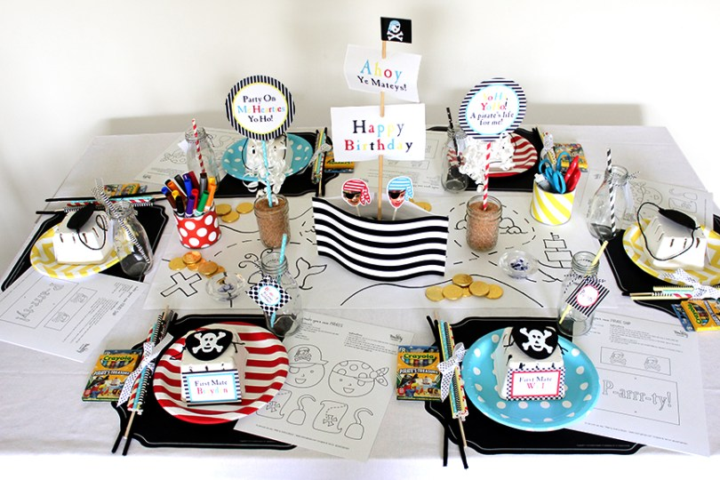 Pirate Birthday Party with Party Printables by Tonality Designs