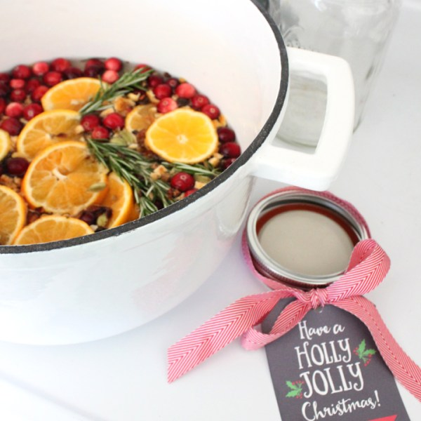DIY Christmas Stovetop Potpourri with FREE Gift Tag Download