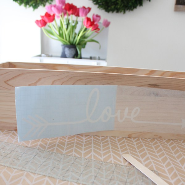 DIY Flower Box Centerpiece with Vinyl Decals for Valentine's Day, Bridal Showers, Weddings, etc.