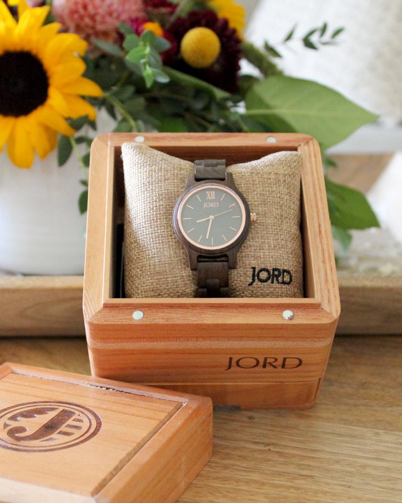 JORD Frankie35 Dark Sandlewood & Slate Wood Watch