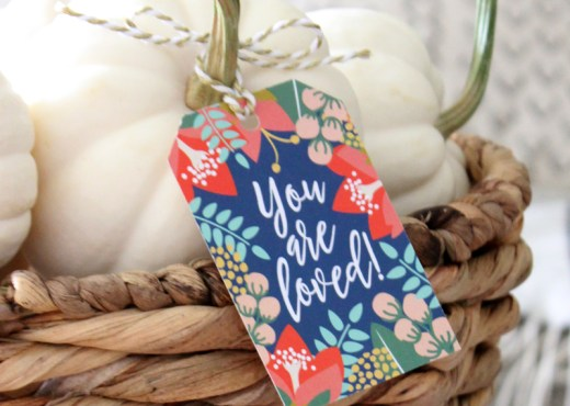 "Free ""You Are Loved"" Gift Tag Printable: Print-It-Yourself PDF file"