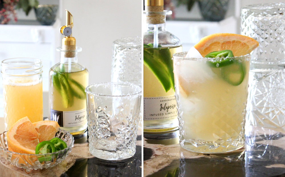 Jalapeño Infused Simple Syrup and Spicy Salty Dog Recipes