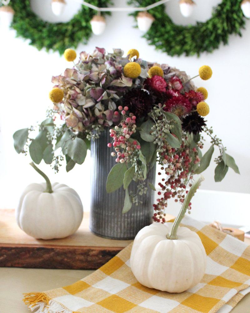 10 Fall Floral Arrangement Ideas including how to use dried flowers