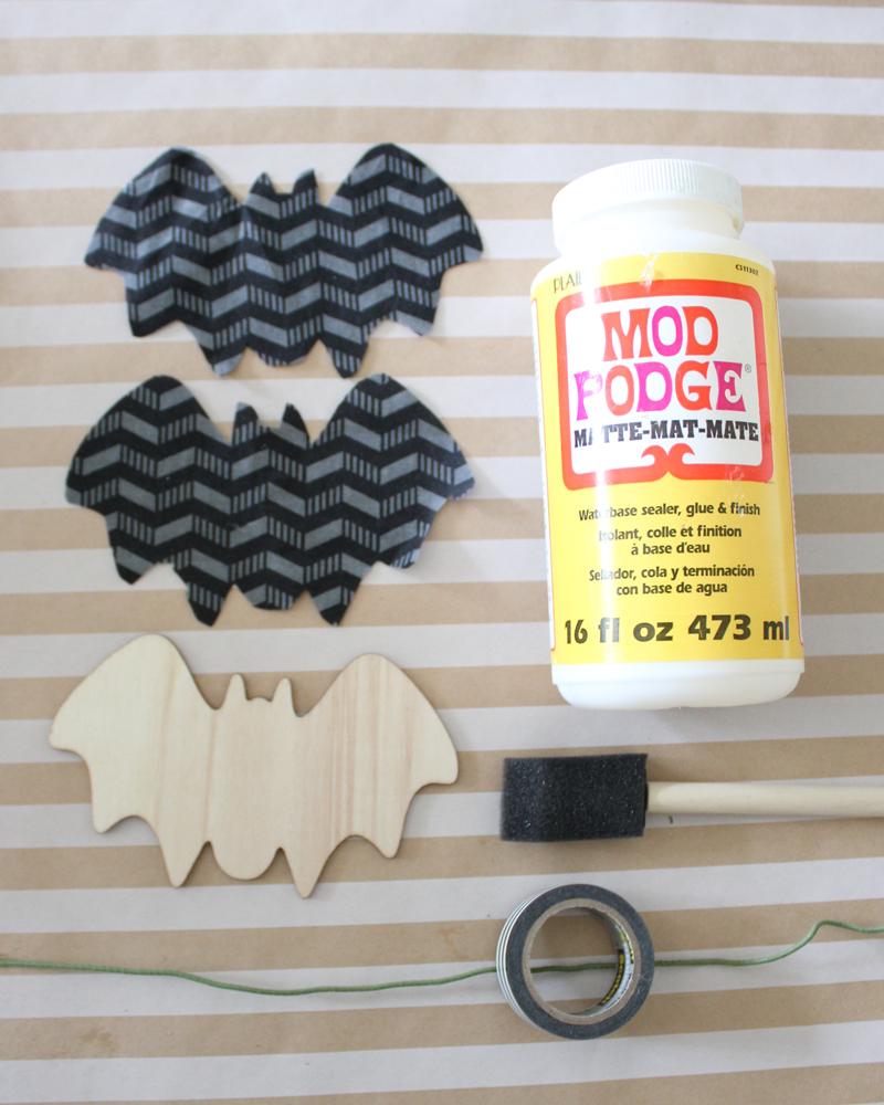 DIY Flying Decoupage Bats Tutorial