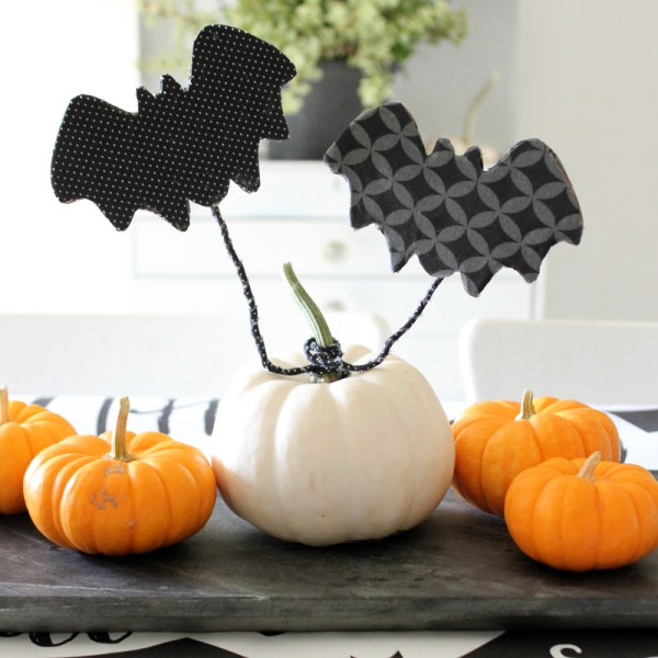DIY Flying Decoupage Bats: Halloween Decor, No Carve Pumpkin Ideas