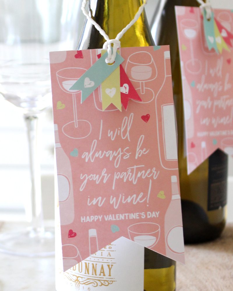 """Printable Partners In Wine Valentine - a """"Classroom"""" Valentine Idea for Adults"""